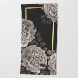 Flowers on a winter night Beach Towel