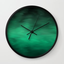 Green Atmosphere Wall Clock