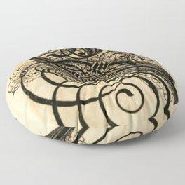 Antique Caligraphy Floor Pillow