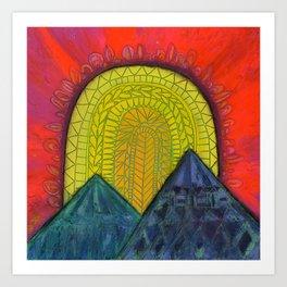 Brilliant Dusk Mountain Sunset Art Print