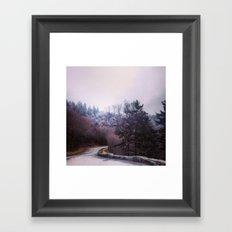Winter On Top Framed Art Print
