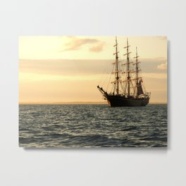 The Georg Stage while sunset  Metal Print