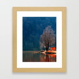 Gone fishing | waterscape photography Framed Art Print
