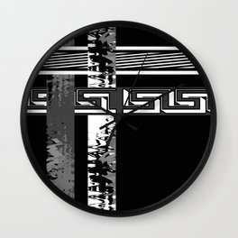 Creative Black and white pattern . The braided belts . Wall Clock