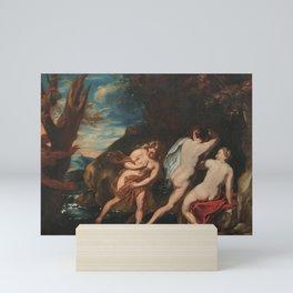 Anthony van Dyck - Nymphs surprised by a Satyr Mini Art Print