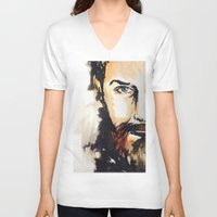 neil gaiman V-neck T-shirts featuring Simon Neil  by madbiffymorghulis