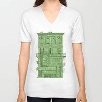 brooklyn V-neck T-shirts featuring brooklyn by MJ DiLorenzo
