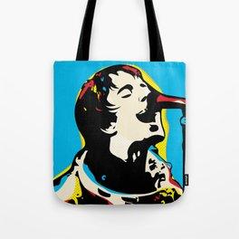 Liam Gallagher Quote Portrait Tote Bag