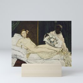 Olympia, Edouard Manet, 1863 Mini Art Print