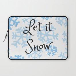 Let it Snow Snowflakes Laptop Sleeve