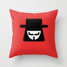 v vendetta Throw Pillow