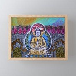 Buddha In The Garden Framed Mini Art Print