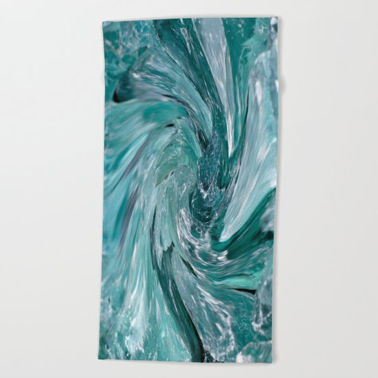 Blue Vortex Beach Towel