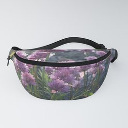 Wild chives flowering Fanny Pack