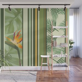 Heliconia Palm leaves pattern Wall Mural