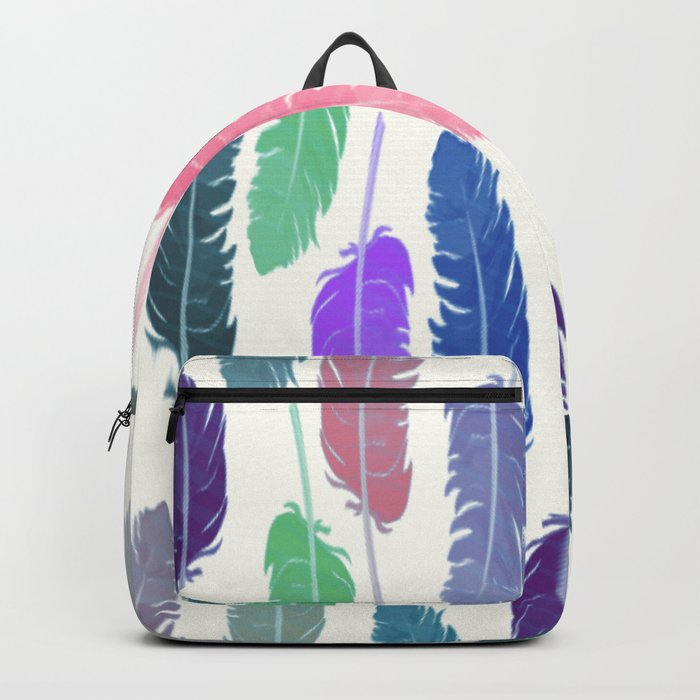 Colorful Feathers Backpack