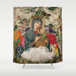Saints Collection -- Madonna And Child Shower Curtain