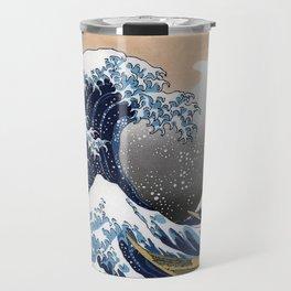 "Hokusai , "" The Great Wave off Kanagawa "" Travel Mug"