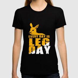 Kangaroo Leg Day Gym Fitness Training T-shirt