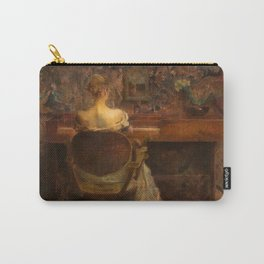 The Spinet by Thomas Wilmer Dewing - Victorian Belle Époque Retro Vintage Fine Art Carry-All Pouch