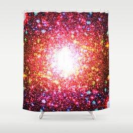 Colorful Confetti Astral Glitter Shower Curtain