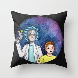 Wubba Lubba Dub Dub Throw Pillow