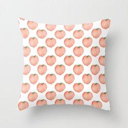 Watercolour Peach Throw Pillow