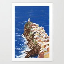 Dreamy Holiday Cinque Terre Art Print
