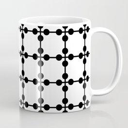 Droplets Pattern - White & Black Coffee Mug