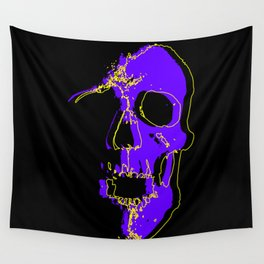 Skull - Purple Wall Tapestry