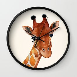 Giraffe Watercolor Wall Clock