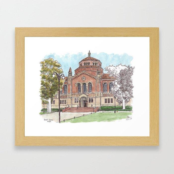Powell Library UCLA Framed Art Print