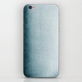 Teal Vertical Blur Abstract Art iPhone Skin