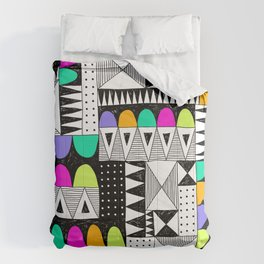 neon colors pattern with doodle elements. Comforters