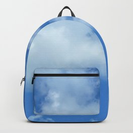 Blue sky and clouds Backpack