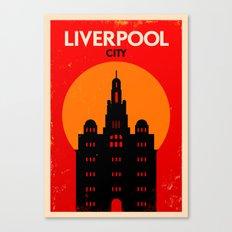 Vintage Liverpool Poster Canvas Print