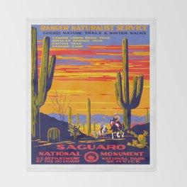 Saguaro National Monument Throw Blanket