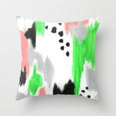 Green Pattern Throw Pillow