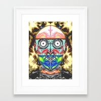 meme Framed Art Prints featuring SERF MEME by Laertis Art