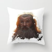 gandalf Throw Pillows featuring Gandalf by Ryky