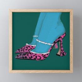 Leopard Heels Framed Mini Art Print