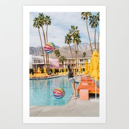 Palm Springs Pool Day IV Art Print