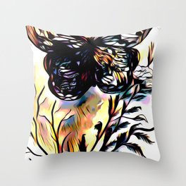 On Butterfly Wings Throw Pillow