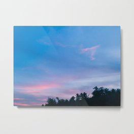 SUNSET SKIES   Real, Quezon II Metal Print