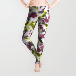 """""""Watercolor glamour . Maroon and yellow. Leggings"""