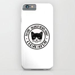 CAT BLACK-WHITE iPhone Case