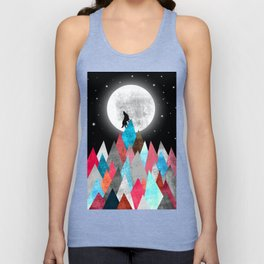 Wolf on Blue Peak Unisex Tank Top