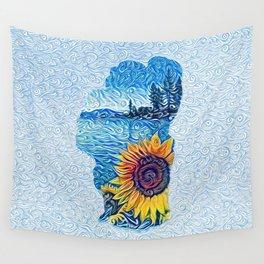 Lake Tahoe Sunflower Wall Tapestry