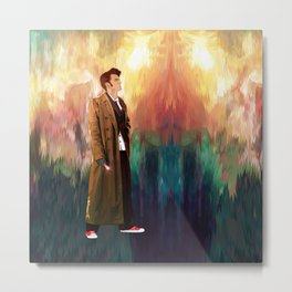 10th Doctor who with full color abstract Metal Print