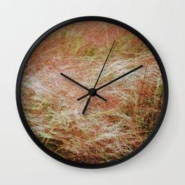 Amber waves Wall Clock